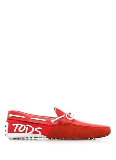 Tod's %100 Deri Loafer Ayakkabı Kırmızı